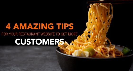 4 Tips for Your F&B Website - Get More Customers